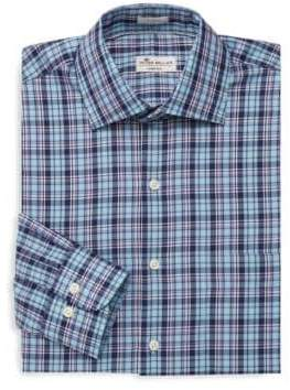 Peter Millar Crown Ease Laguna Plaid Dress Shirt