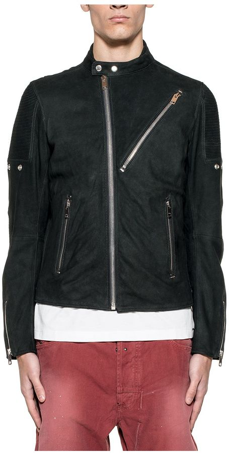 DieselBlack Mackson Leather Jacket
