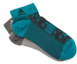 adidas by Stella McCartney Set Of Two Flower Jacquard Socks - Womens - Blue Multi