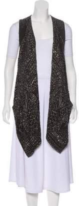 Kaufman Franco KAUFMANFRANCO Embellished Silk Vest