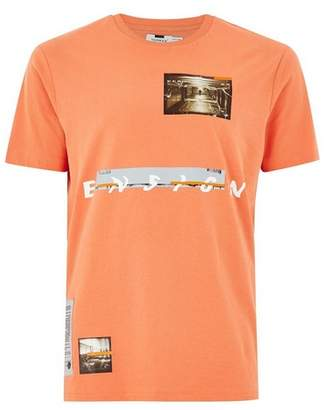 Topman Mens Pink Coral 'Ensign' T-Shirt