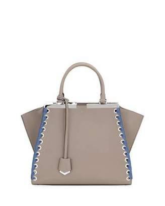 Fendi 3Jours Medium Tote Bag with Ribbon Whipstitching