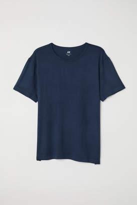 H&M Viscose Jersey T-shirt - Blue