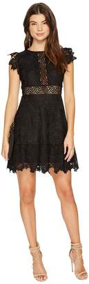 BB Dakota Calvin Scalloped Trim Lace Dress Women's Dress
