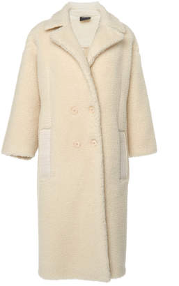 Akris Enej Double-Breasted Camel-Blend Coat