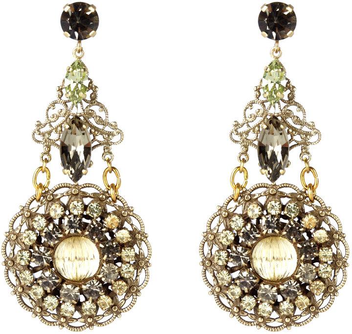 Anton Heunis Disc Chandelier Earrings