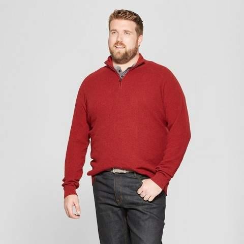 Goodfellow & Co Men's Big & Tall Quarter Zip Sweater