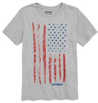Converse Tie Dye Flag Graphic T-Shirt