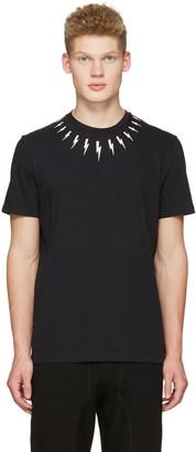 Neil Barrett Black Thunderbolt T-Shirt $275 thestylecure.com