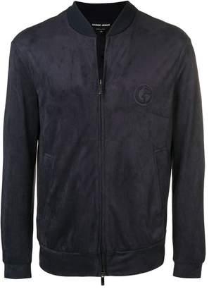 Giorgio Armani embossed logo bomber jacket