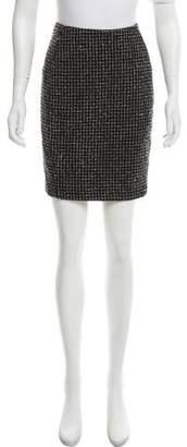 Barneys New York Barney's New York Windowpane Pencil Skirt