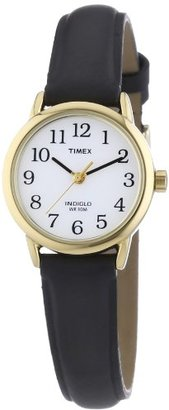 "Timex Women's T20433 ""Easy Reader"" Gold-Tone and Black Leather Watch $38 thestylecure.com"