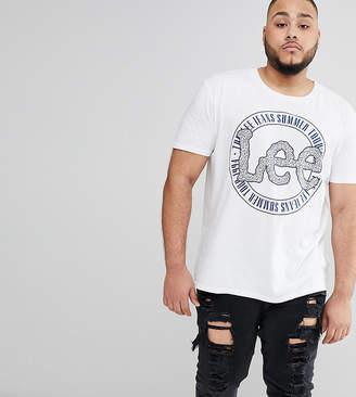 Lee PLUS Stamp Logo T-Shirt in White