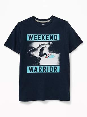Old Navy Graphic Jersey Crew-Neck Tee for Boys