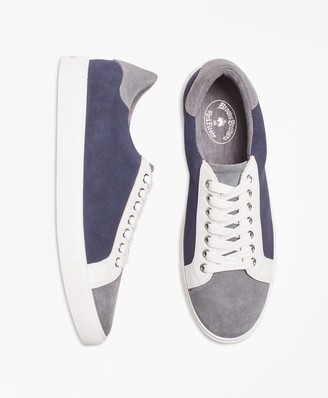 Brooks Brothers Color-Block Suede Sneakers