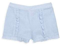Design History Little Girl's& Girl's Gingham Seersucker Shorts