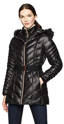 HAVEN OUTERWEAR Women's Bib Front Belted Down Jacket