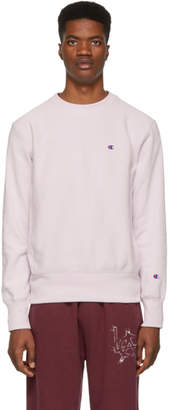 Champion Reverse Weave Purple Logo Sweatshirt