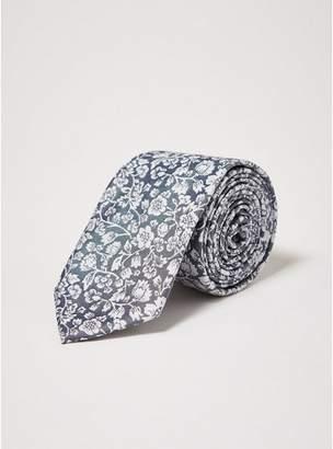 Topman Mens Grey Gray Floral Tie