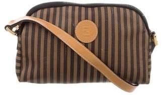 08808315f84c Fendi Pequin-Striped Crossbody Bag