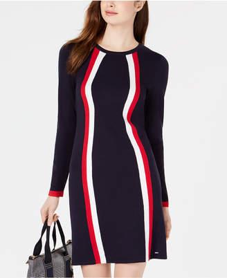 Tommy Hilfiger Contour Stripe Knit Dress