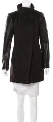 Veda Leather Trimmed Short Coat w/ Tags