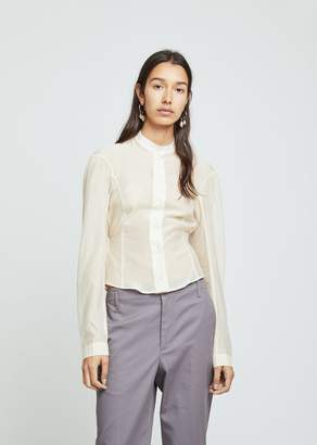 Lemaire Fitted Officer Collar Muslin Shirt