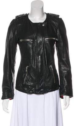 Etoile Isabel Marant Collarless Leather Jacket
