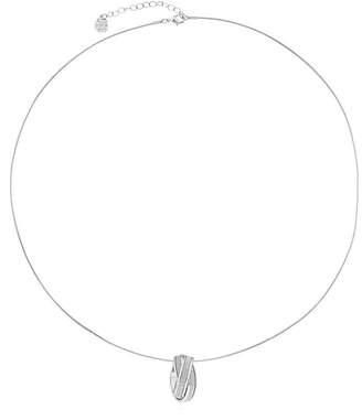 MONET JEWELRY Monet Jewelry Womens Silvertone Glitter Pendant Necklace