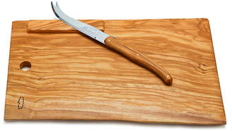 Jean Dubost Le Thiers Rustic Range Olive Wood Cheese Board & Knife (Set of 2)