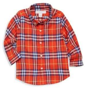 Burberry Baby Boy's& Little Boy's Fred Cotton Flannel Shirt