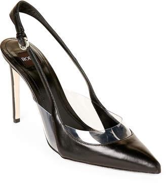 Rodo Leather High Heel Slingback Pumps
