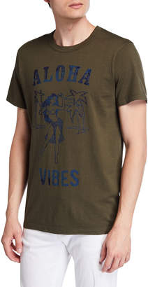 Chaser Men's Aloha Vibes Slogan T-Shirt