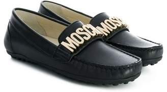 Moschino Kids branded mocassins