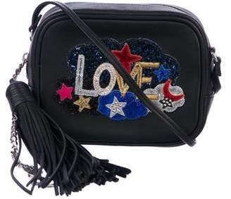 b4728302a63c Saint Laurent 2016 Love Patch Mini Blogger Crossbody Bag