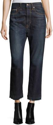 Vince Union Slouch Released-Hem Jeans, Dark Vintage Wash
