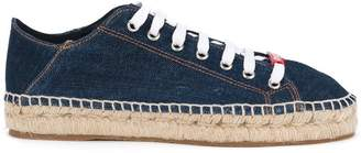 DSQUARED2 denim espadrille sneakers