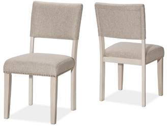 Hillsdale Furniture Set Of 2 Elder Park Dining Chairs White Sands Furniture