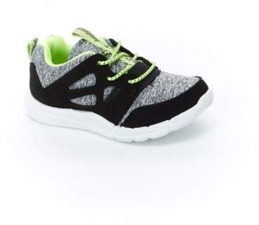 carter's® Mesh Sneaker in Black/Grey/Lime