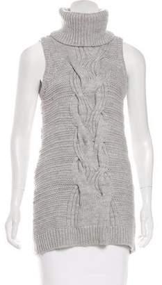 Intermix Sleeveless Wool Sweater