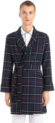 Heavy Plaid Cotton Dressing Robe