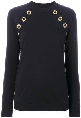 Balmain grommet-embellished sweatshirt