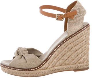 Tory Burch Tory Burch Canvas Knot Wedges