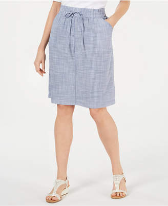 e0c9a26fb Karen Scott Cotton Drawstring-Waist Skirt