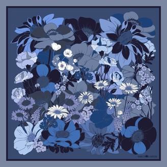 Emily Carter The English Garden Pocket Square Royal Blue