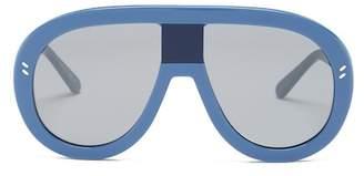 Stella McCartney Women's 60mm Shield Aviator Sunglasses