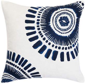 Trina Turk Samba De Roda Circle Embroidered Square Pillow