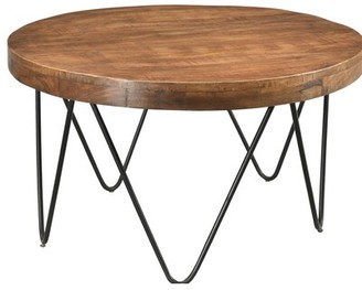 Union Rustic Hankins Round Cocktail Table with Tray Top Union Rustic
