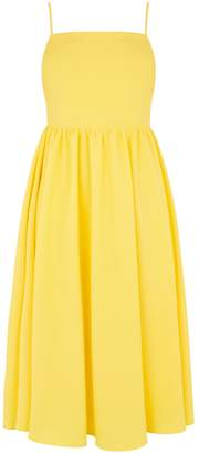 Warehouse Plain Smocked Midi Dress