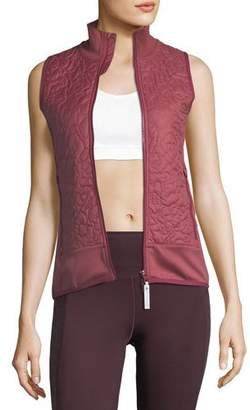 adidas by Stella McCartney Quilted Zip-Front Running Vest